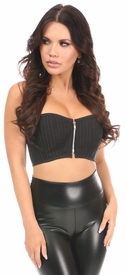 Lavish Pinstripe Short Bustier Top - IN STOCK