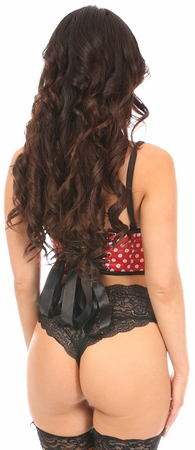 Lavish Polka Dot Underwire Short Bustier