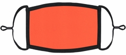 Neon Coral Fabric Face Mask