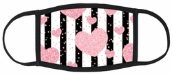 Pink Hearts Fabric Face Mask