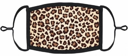 YOUTH SIZE - Leopard Fabric Face Mask