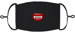 YOUTH SIZE - Mouth w/Fangs Fabric Face Mask