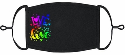 """Love is Love"" Fabric Face Mask"