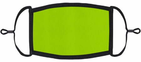Neon Green Fabric Face Mask