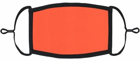 YOUTH SIZE - Neon Coral Fabric Face Mask
