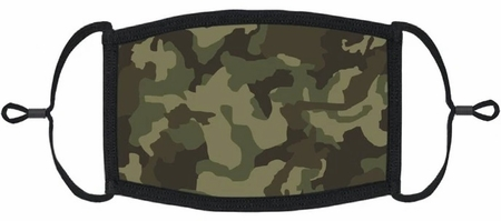YOUTH SIZE - Green Camo Fabric Face Mask