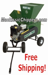 Tow-Behind Chipper with Electric Start Engine