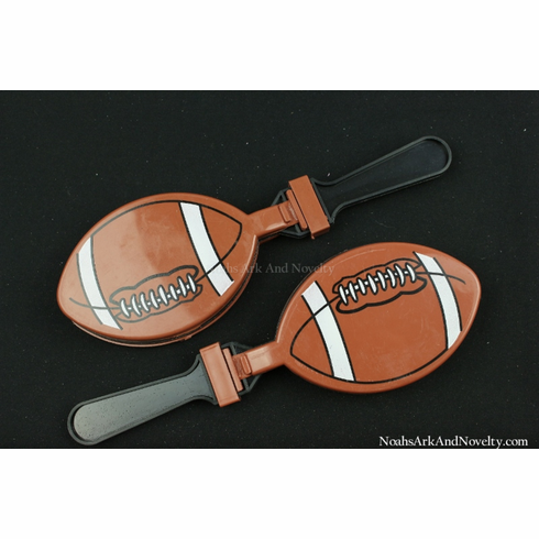 Plastic XL Football Hand Clappers - 1 PC