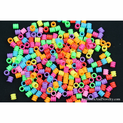 Acrylic Shorty Grooved Bead - 100 PC