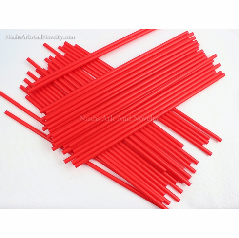 Plastic Straws Red - 100 PK