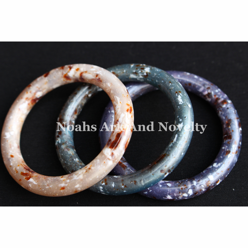 "2"" Pearlized Granite Marbella Rings"