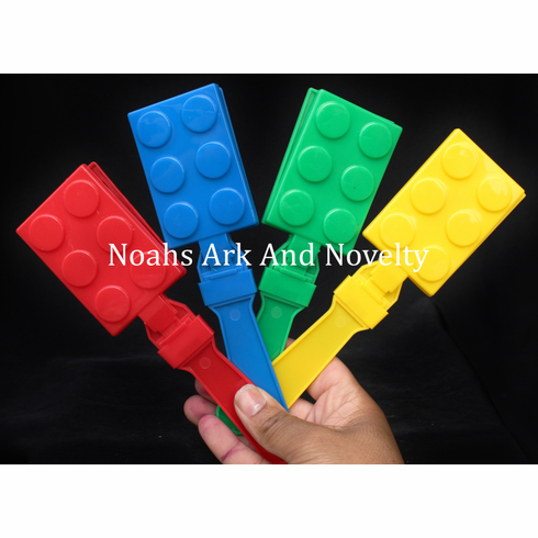 """7 1/2"""" Plastic Lego Hand Clappers - 4 PK"""