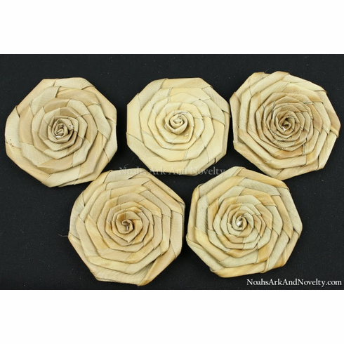 """Natural Woven Palm Rose 3"""""""