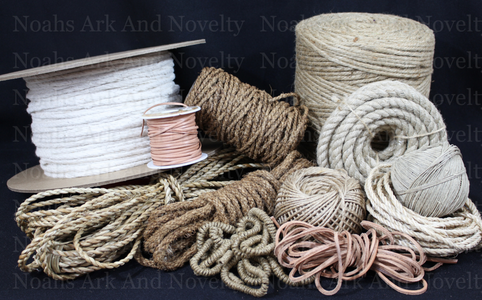 Natural Rope & Cording - Leather, Cotton, Sisal, Coconut & More