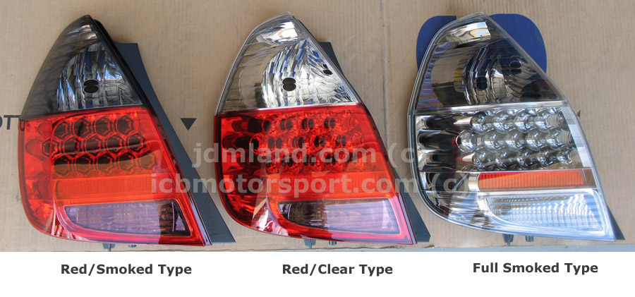 JDM Fit GD3 LED Tail Lights Kits Red Smoked Red Clear Full Smoked