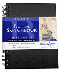 Stillman and Birn Beta Series Premium Sketch Book, 6x8, 25 sheets 180lb Wire Bound