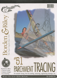Borden & Riley Tracing Paper, 50 Sheets 9X12