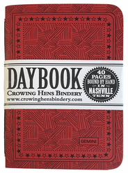 Crowing Hens Bindery Daybook 3-pack, Gemini (Red) (Out of Stock)