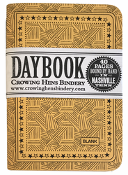 Crowing Hens Bindery Daybook 3-pack, Blank (Yellow)