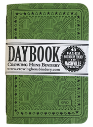 Crowing Hens Bindery Daybook 3-pack, Grid (Green)
