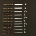 Set of 10 Mitchell Nibs, No Reservoirs