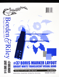 Borden & Riley Marker Layout, 100 Sheets 11X14 (Out of Stock)