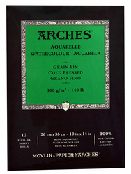 Arches Watercolor Pad 140lb, Cold Press  (Out of Stock)