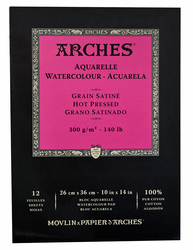 Arches Watercolor Pad 140lb, Hot Press