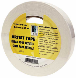 Artist Tape 1/2 in x 60 yd White