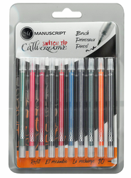 Callicreative Switch Tip Refill Multi-color 10 Pack, Brush