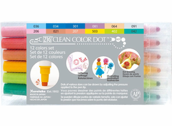 Zig Clean Color DOT Marker, Set of 12