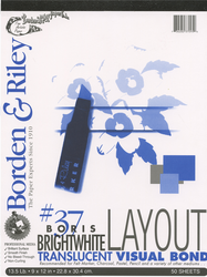Borden & Riley Marker Layout, 50 Sheets 9X12 (Out of Stock)