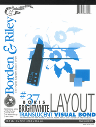 Borden & Riley Marker Layout, 100 Sheets  9X12