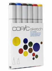 COPIC Sketch Marker Set of 6, Bold Primaries
