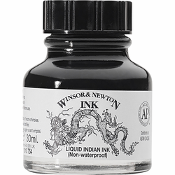 Winsor & Newton Non-Waterproof Liquid India Ink