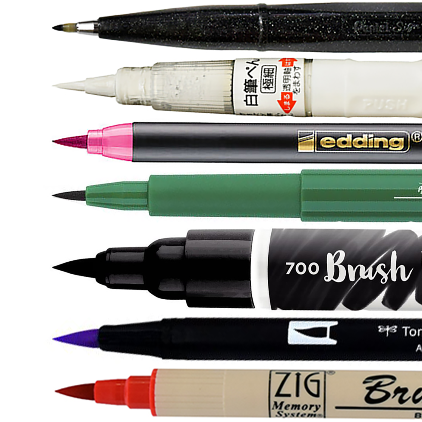 Ecurson Fine Line Brush Pens in 10 Colors Brush Markers Paint Markers Paint Pens Watercolor Paint Calligraphy Pens Watercolor Markers for Adults Coloring Book Note Taking Writing