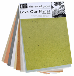 Japanese Natural Paper Assortment, 10 sheets 8.5x11 (Out of Stock)