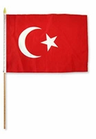 Flag of Turkey: 12 x 18 in Stick Flag