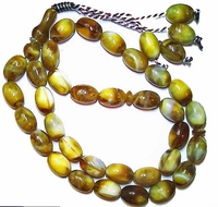 Tisbah Beads - Prayer Beads - 33 Beads - Molded Resin Amber