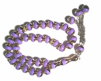 Tisbah Beads - Prayer Beads - 33 Beads - Lavender/Silver (Small)