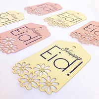 Event Decor: Lace Tags - Pink (Set of 6)