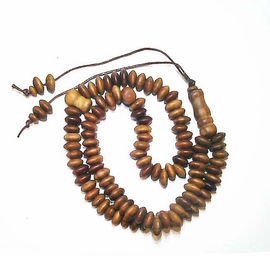 Tisbah Beads - Prayer Beads - 99 Beads Small - Sandlewood Scented Wood