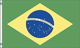Flag of Brazil: 3 x 5 ft.