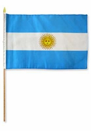Flag of Argentina: 12 x 18 in Stick Flag