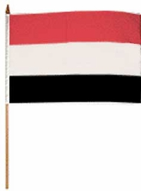 Flag of Yemen: 12 x 18 in. Stick Flag