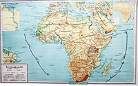 Map: Africa Hanging Wall Map  أفريقيا