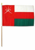 Flag of Oman: 12 x 18 in Stick Flag