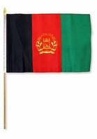 Flag of Afghanistan: 12 x 18 in Stick Flag