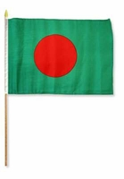 Flag of Bangladesh: 12 x 18 in Stick Flag