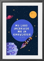 Framed Art Print: Increase Me in Knowledge